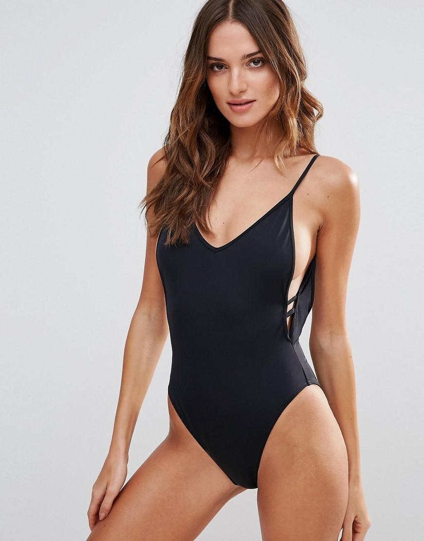 Free Shipping Pictures Strappy Side Swimsuit - Black Lost Ink. Good Selling Online oAJSpoCX