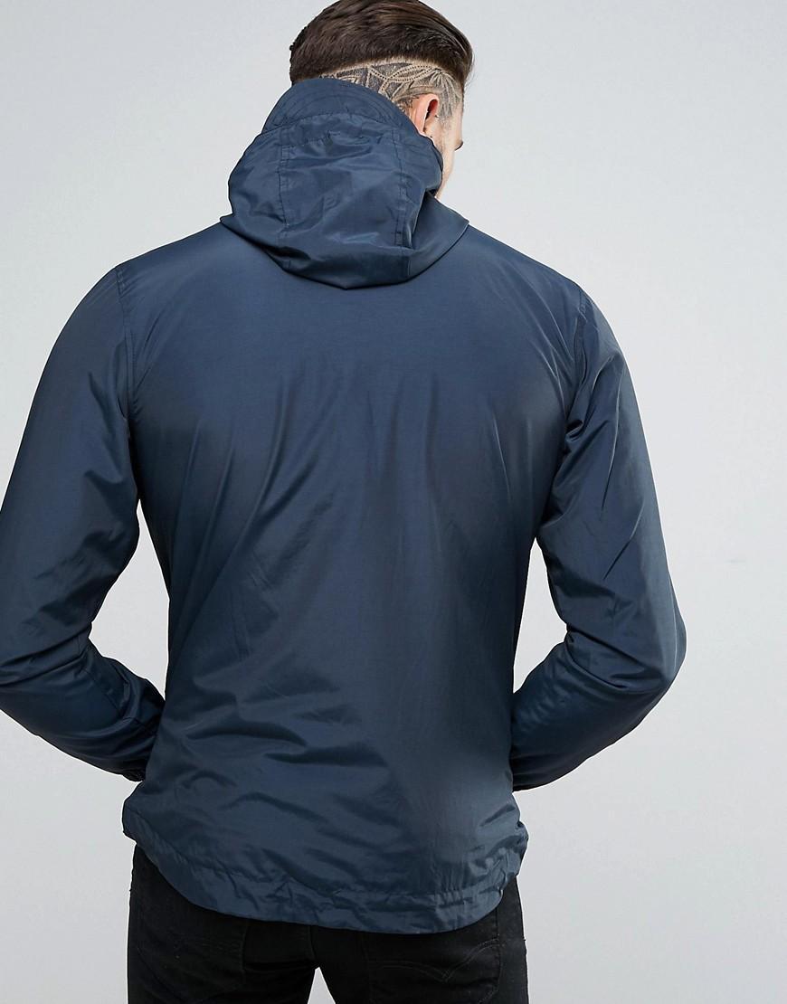 Lyle & Scott Cotton Hooded Zip Through Jacket In Navy in Blue for Men