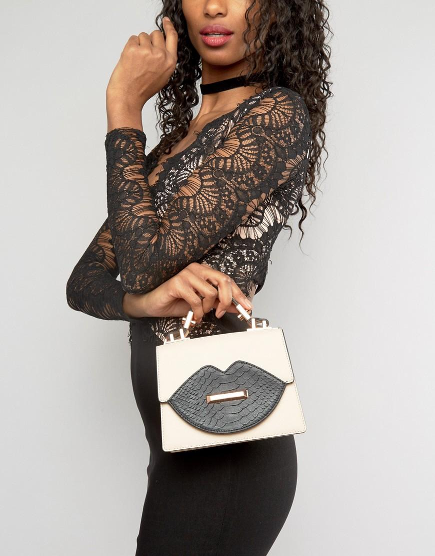 Kendall + Kylie Leather Blush Top Handle Mini Tote Bag in Beige (Natural)