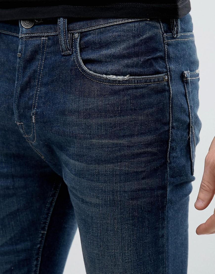 AllSaints Denim Jeans In Skinny Fit Vintage Wash in Blue for Men