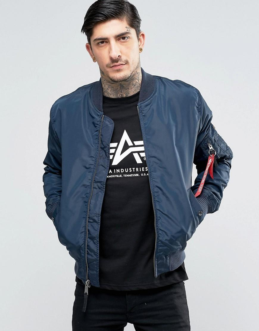 Lyst Alpha Industries Ma1 Tt Bomber Jacket Slim Fit In