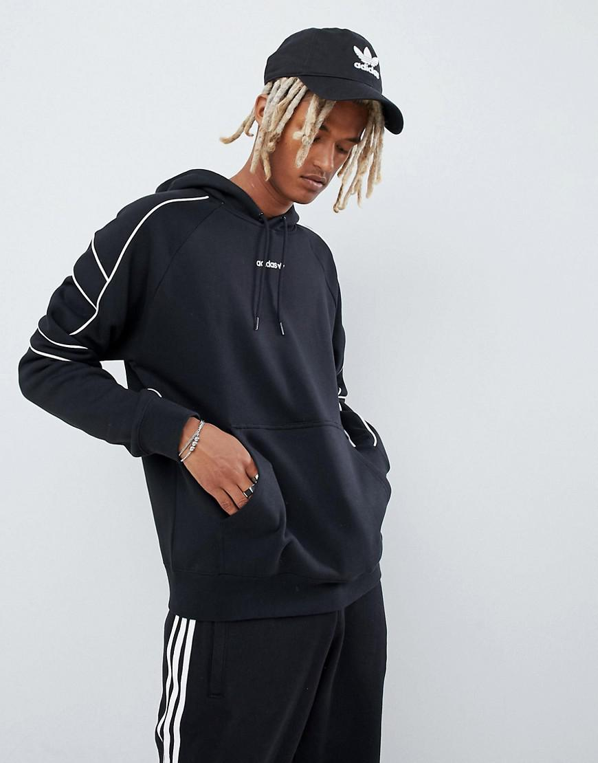 7e10639bf51b Lyst - adidas Originals Eqt Outline Hoodie In Black Dh5216 in Black ...