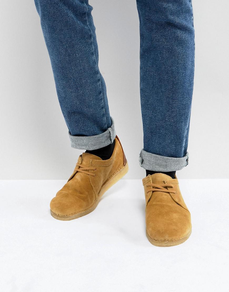 Men/'s Clarks Originals Ashton Boot M Lace-up Ankle Boots in Beige