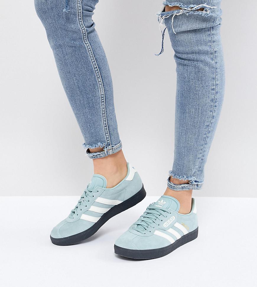 Lyst - adidas Originals Gazelle Super Trainers In Blue With Dark Gum ... a29ef6e09