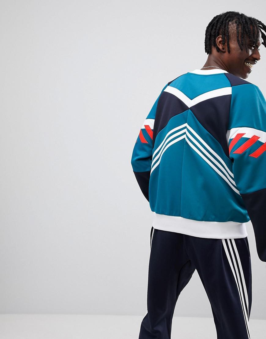 adidas originals nova sweat shirt color block
