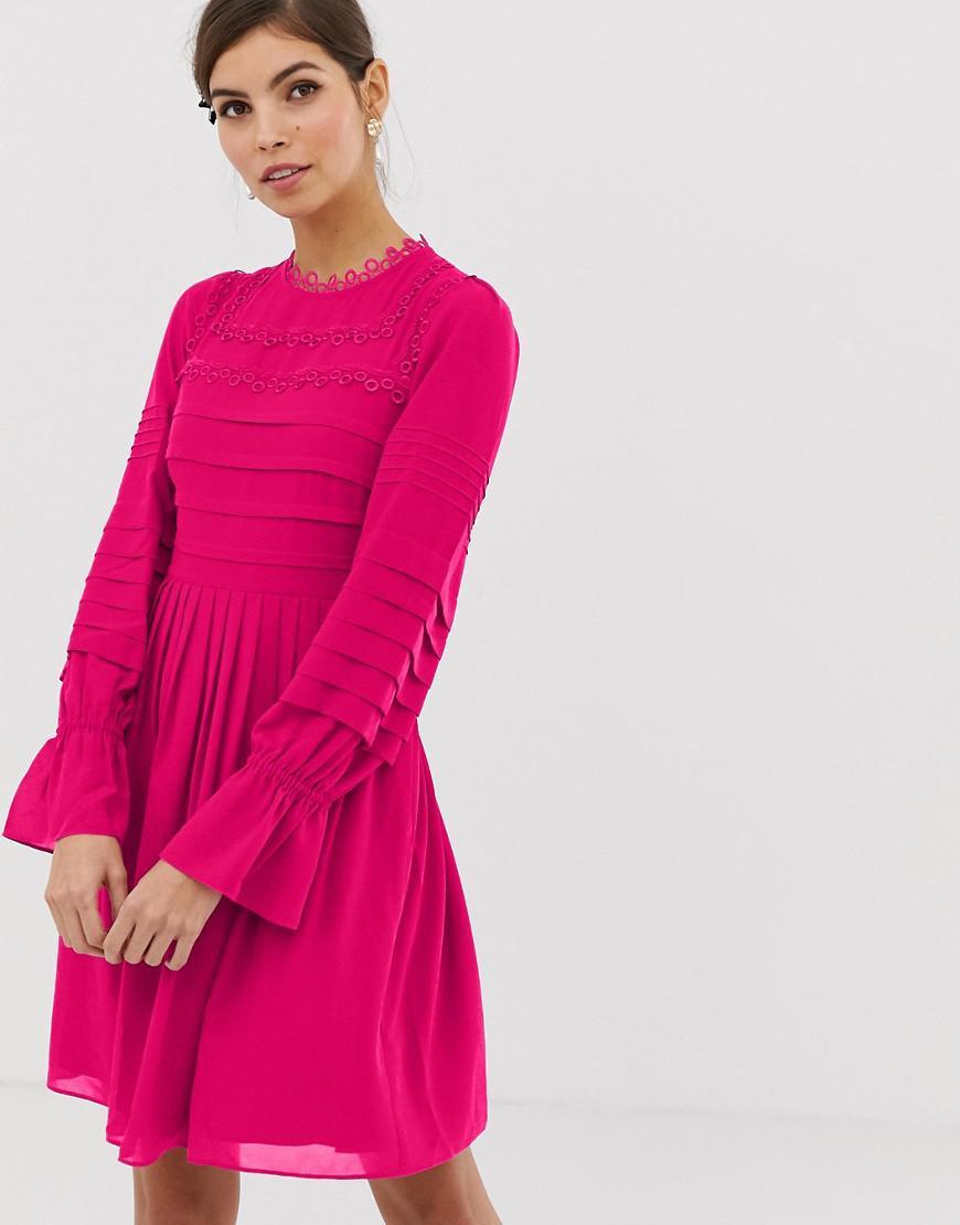 93e340bae7 Ted Baker Arrebel Lace Trim Dress in Pink - Lyst