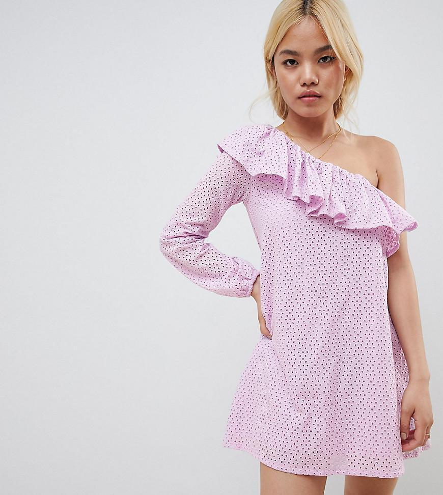 8a8861a69321 Vero Moda One Shoulder Mini Dress In Pink in Pink - Lyst