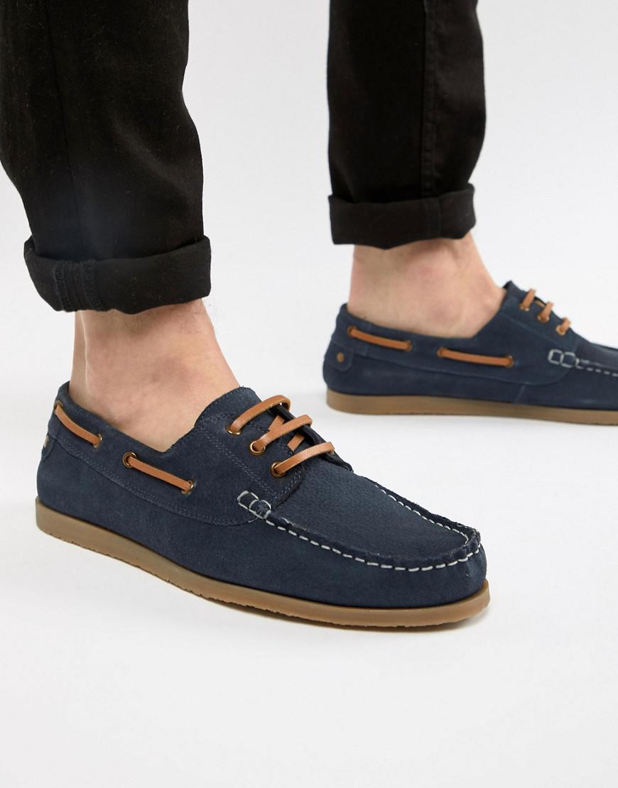 Chaussures Bateau Dune En Daim Bleu Marine - Bleu BjPABJ1WW