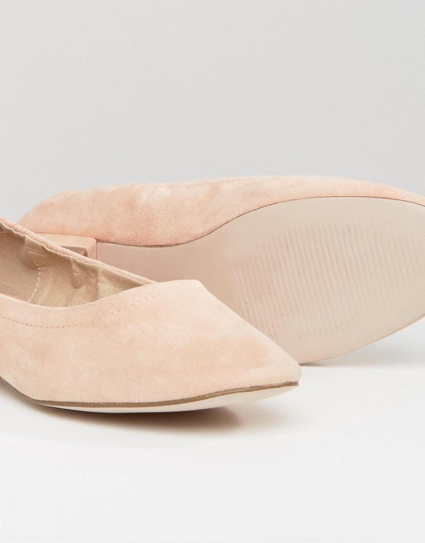 eb88c01bd7ed3e Lyst - ASOS Lemonade Elasticated Ballet Flats in Natural