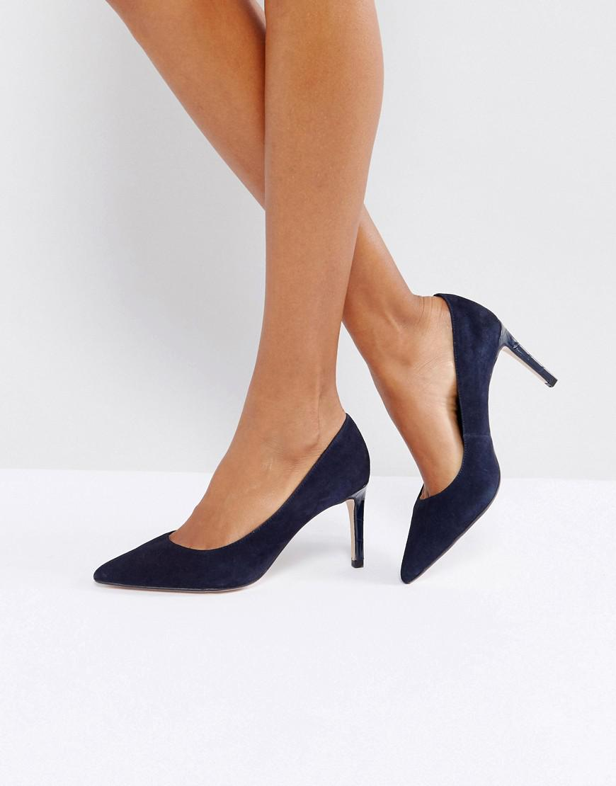 7669d83bd03 Dune - Blue Pointed Toe Mid Heel Court Shoe - Lyst. View fullscreen
