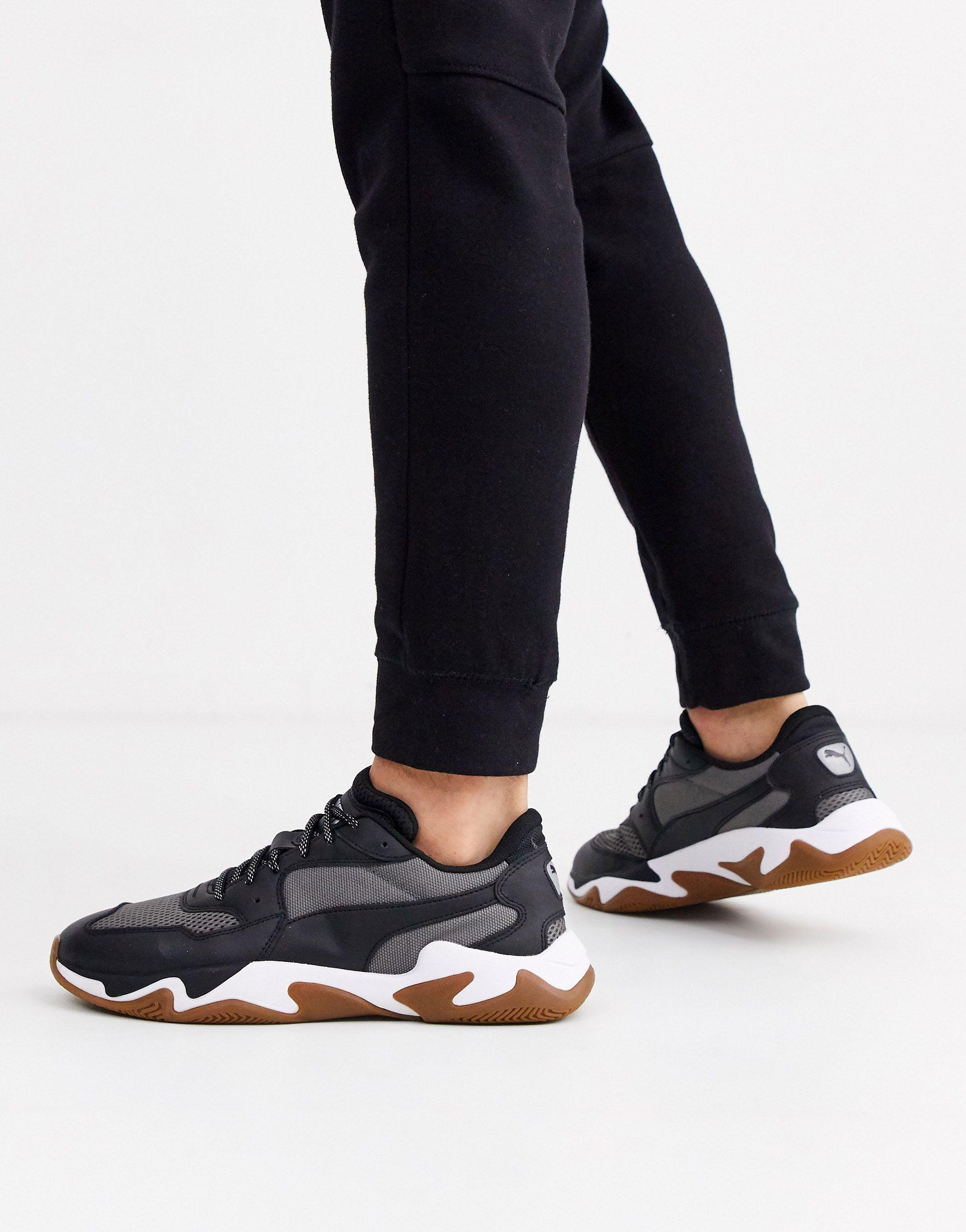 PUMA Rubber Storm Origin Trainers With Gum Sole in Black for ...