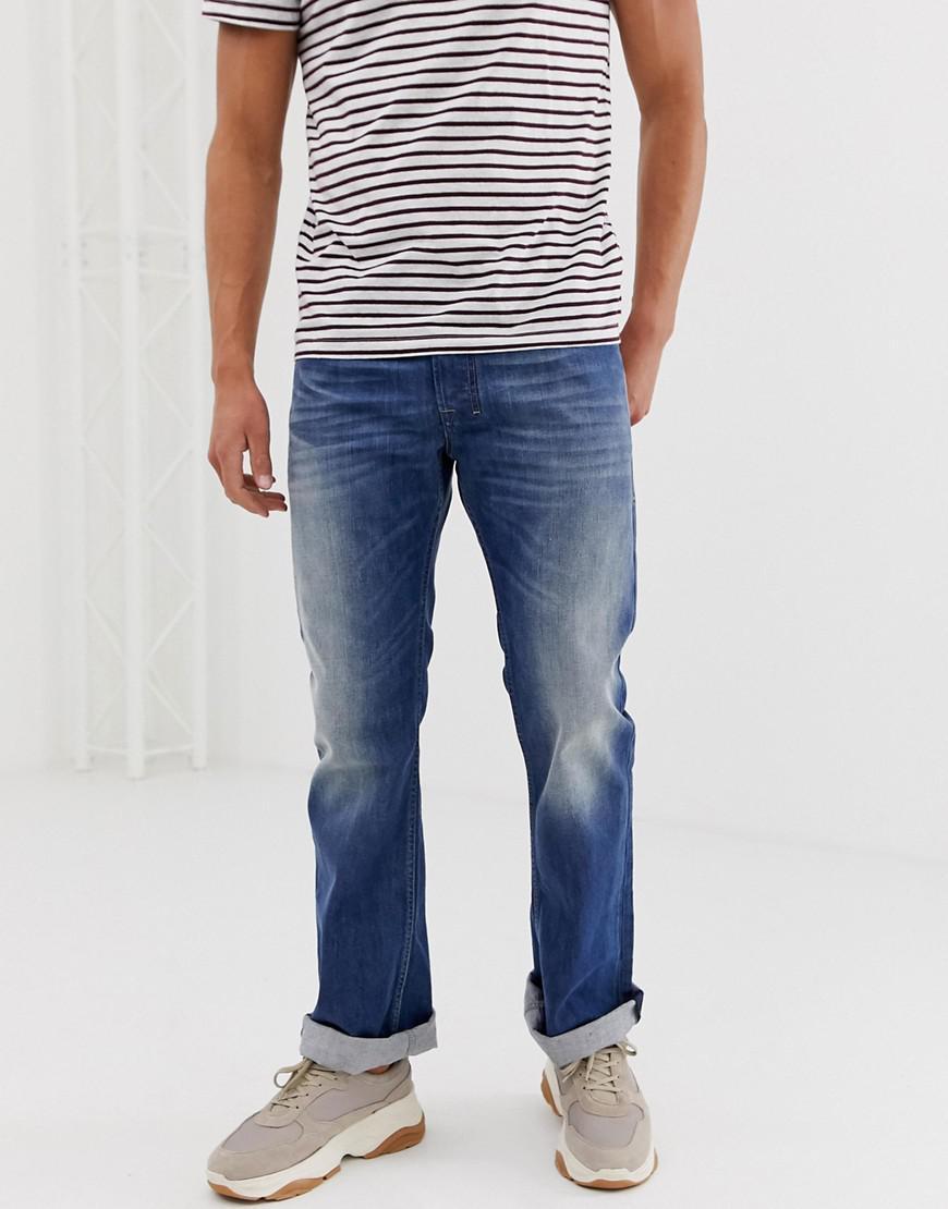8960e341 Lyst - DIESEL Zatiny Bootcut Jeans In 08xr Mid Light Wash in Blue ...