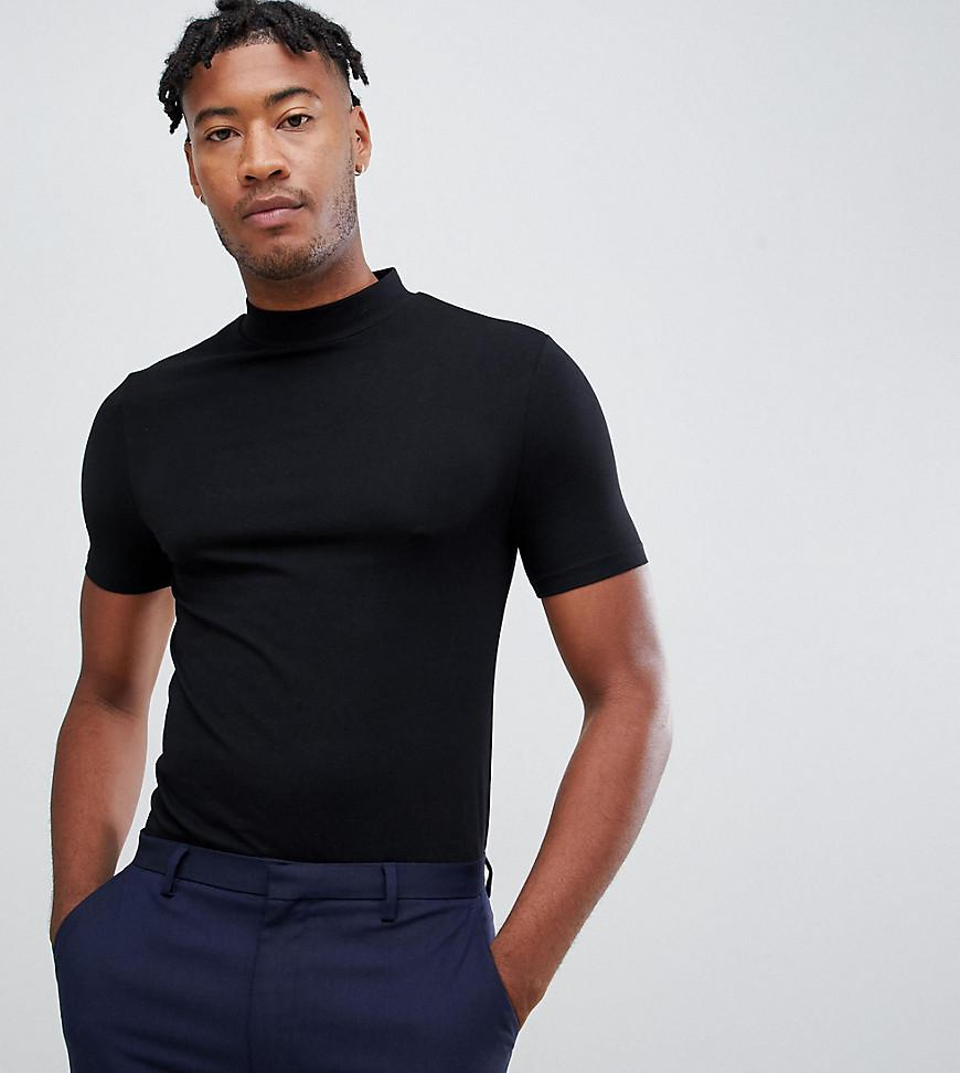 7d8e9613 ASOS Tall Muscle Fit Turtle Neck T-shirt With Stretch In Black in ...