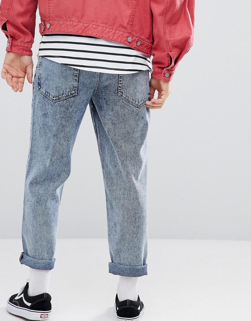 ASOS Denim Asos Skater Fit Jeans In Vintage Light Wash in Blue for Men