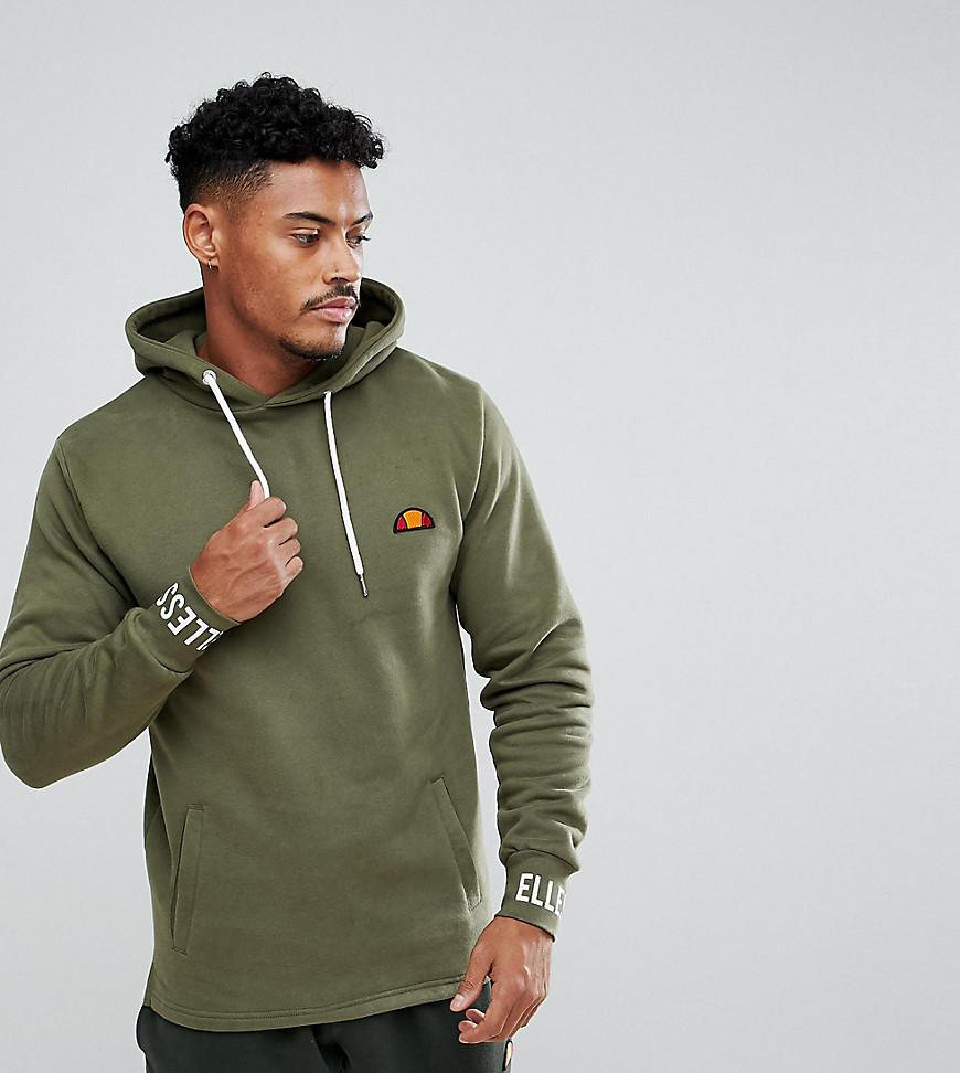 ab36ad7c70 Ellesse Oversized Hoodie With Logo Cuff In Green for Men - Lyst