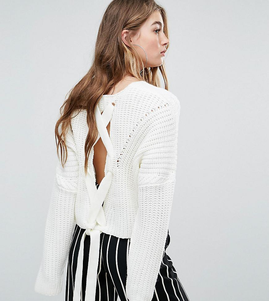 Lyst - Missguided Lace Up Back Jumper 141103988