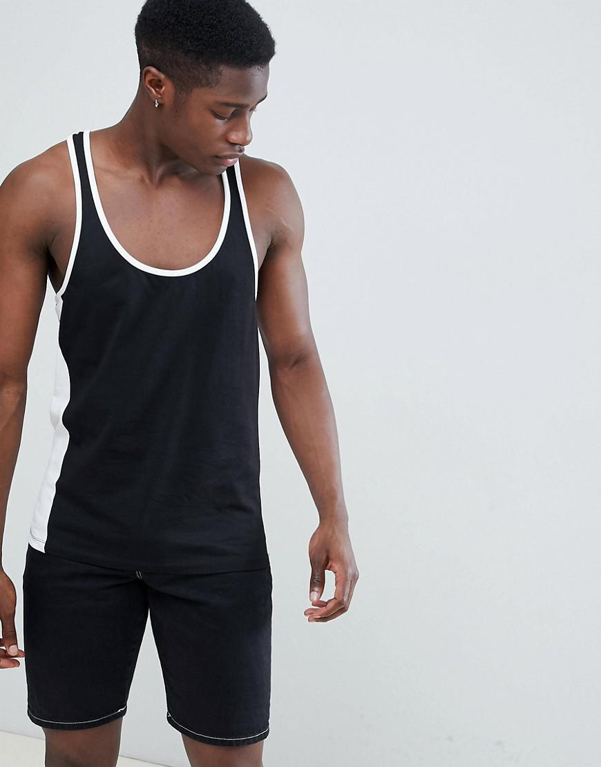 ASOS. Men's Design Vest With Extreme Racer Back And Contrast Panels ...