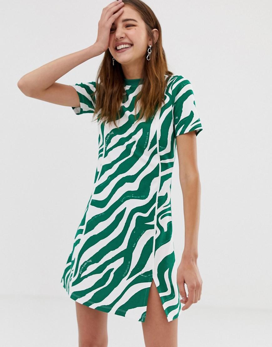 Collusion - White Zebra Printed Skater Dress - Lyst. View fullscreen 52caf310f