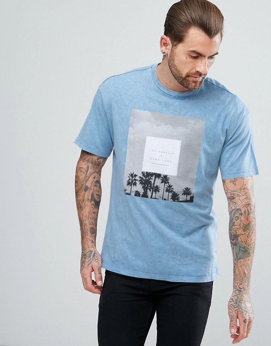 Lyst New Look T Shirt With Los Angeles Print In Light