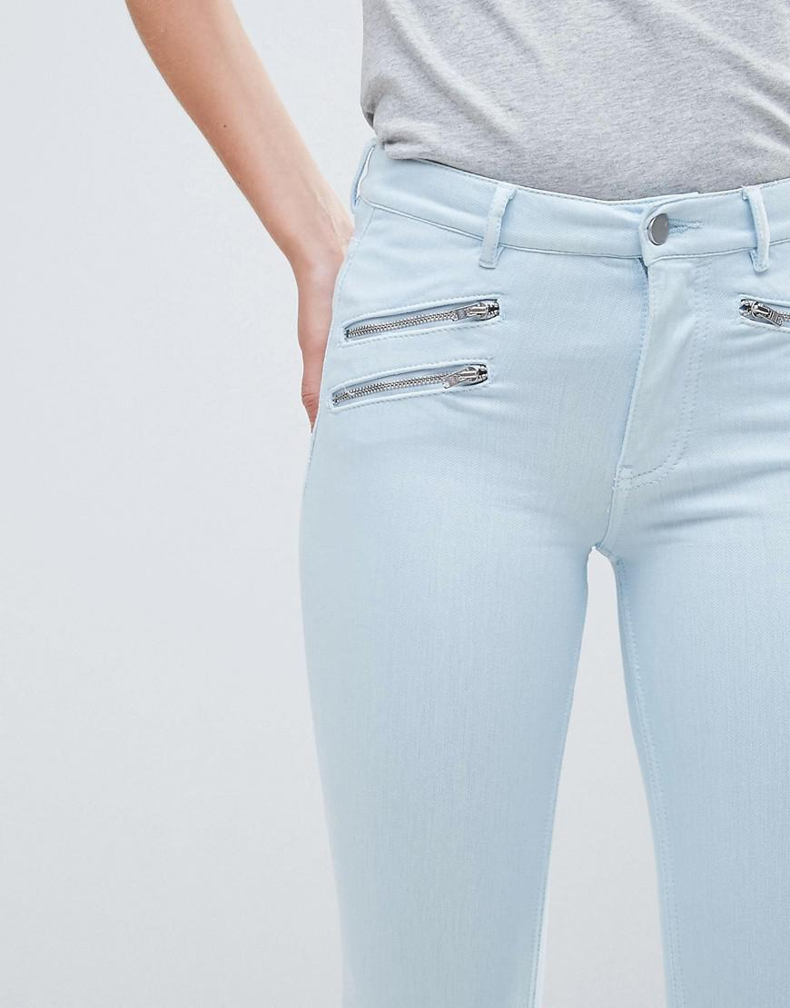 French Connection Denim Super Skinny Jeans in Beige (Natural)