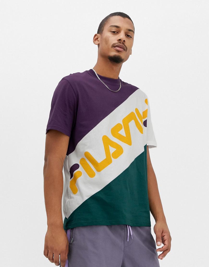 dae5ee3002fe Fila Black Line Rowan Block Logo T-shirt In Purple in Purple for Men ...