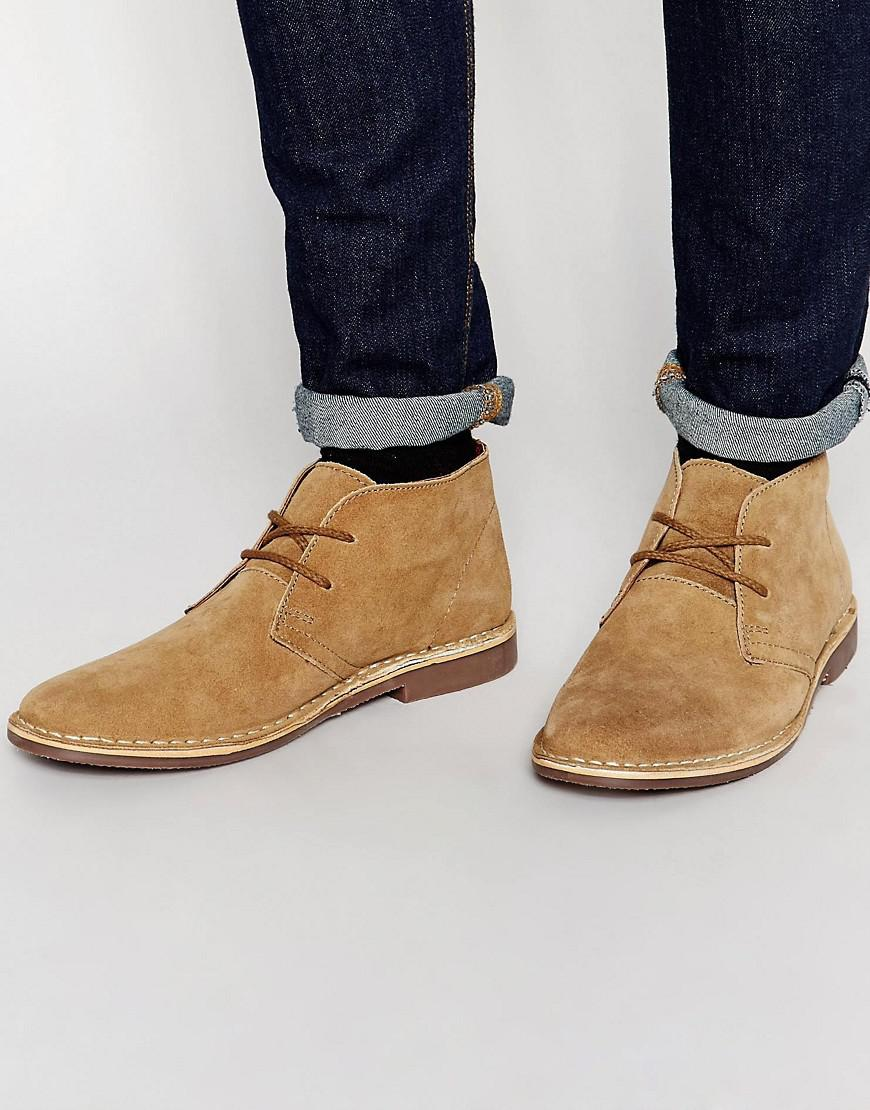 72b0d5f2725 Red Tape Leather Suede Desert Boots - Beige for Men - Lyst