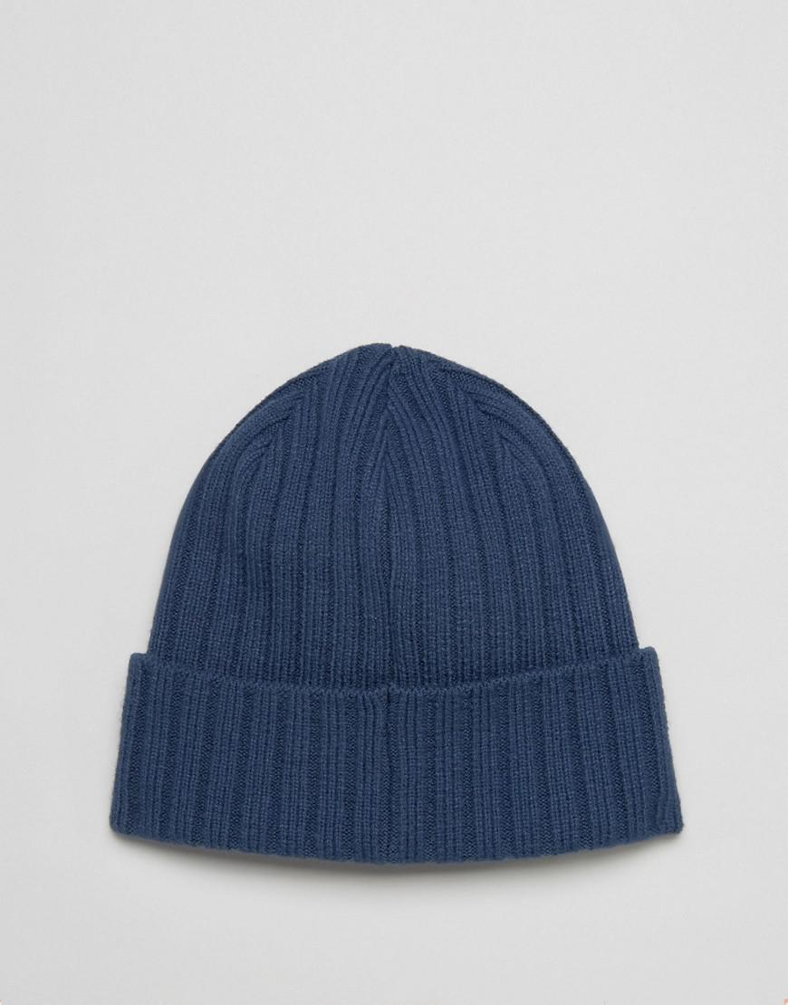 a389881f The North Face Box Logo Cuffed Beanie In Blue in Blue for Men - Lyst