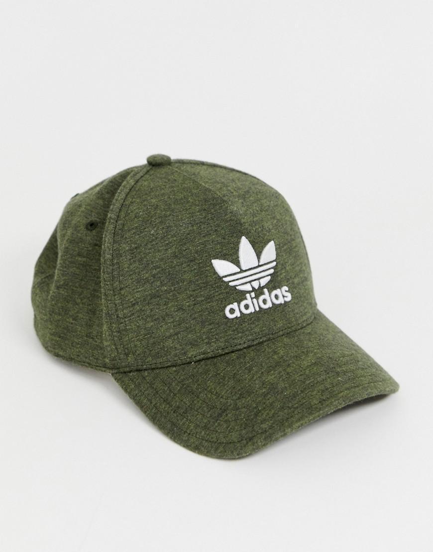 90dee23735a adidas Originals Melange Trefoil Cap Green in Green for Men - Save 24% -  Lyst