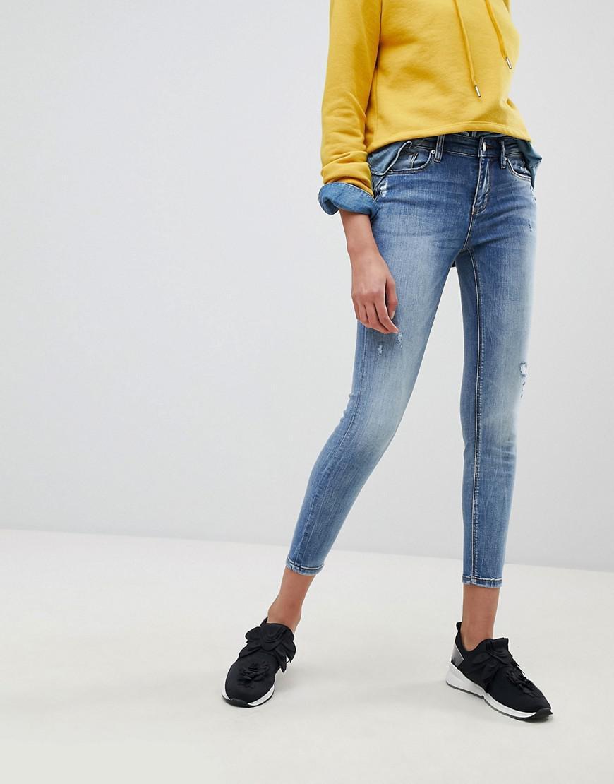 Regular Waist Skinny Jeans - Blue Stradivarius sE5pSAMkhH