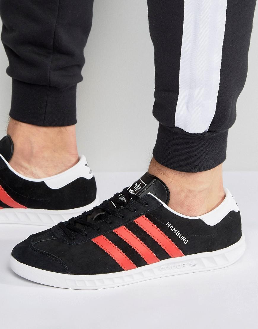 Lyst adidas originali di amburgo, scarpe da ginnastica in nero bb5300 in nero