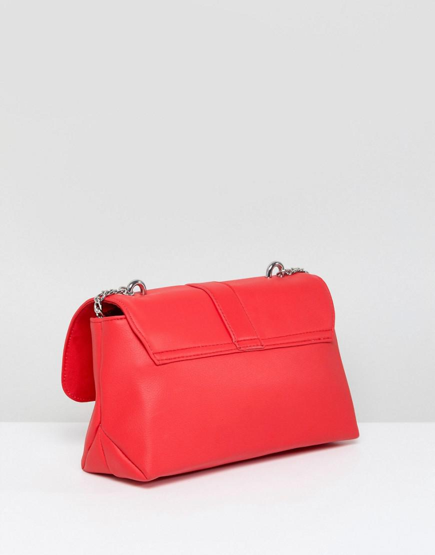 ASOS Denim Asos Hoop And Arrow Cross Body Bag in Red