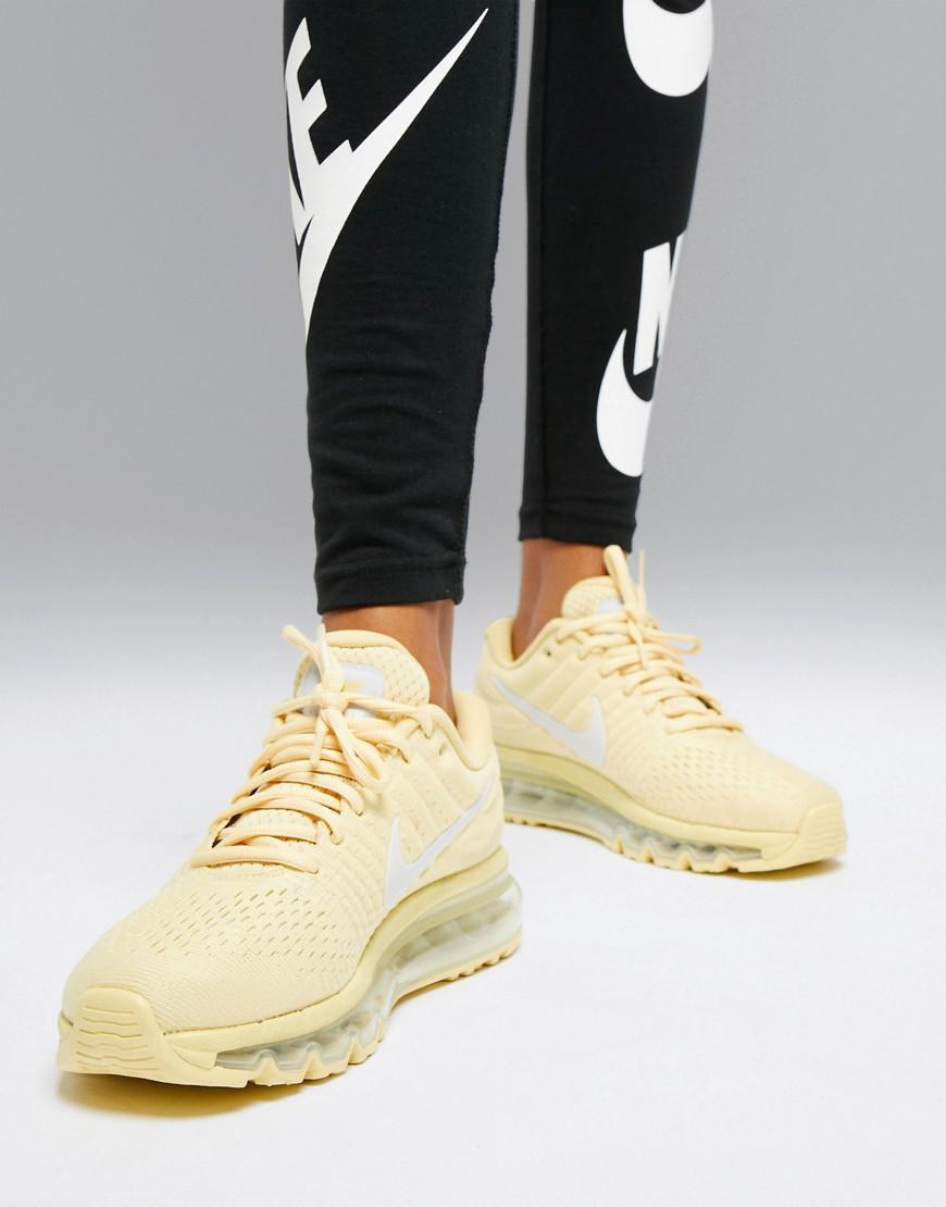 detailed look 3df59 b43e3 Nike Yellow Air Max 2017 Trainers In Lemon