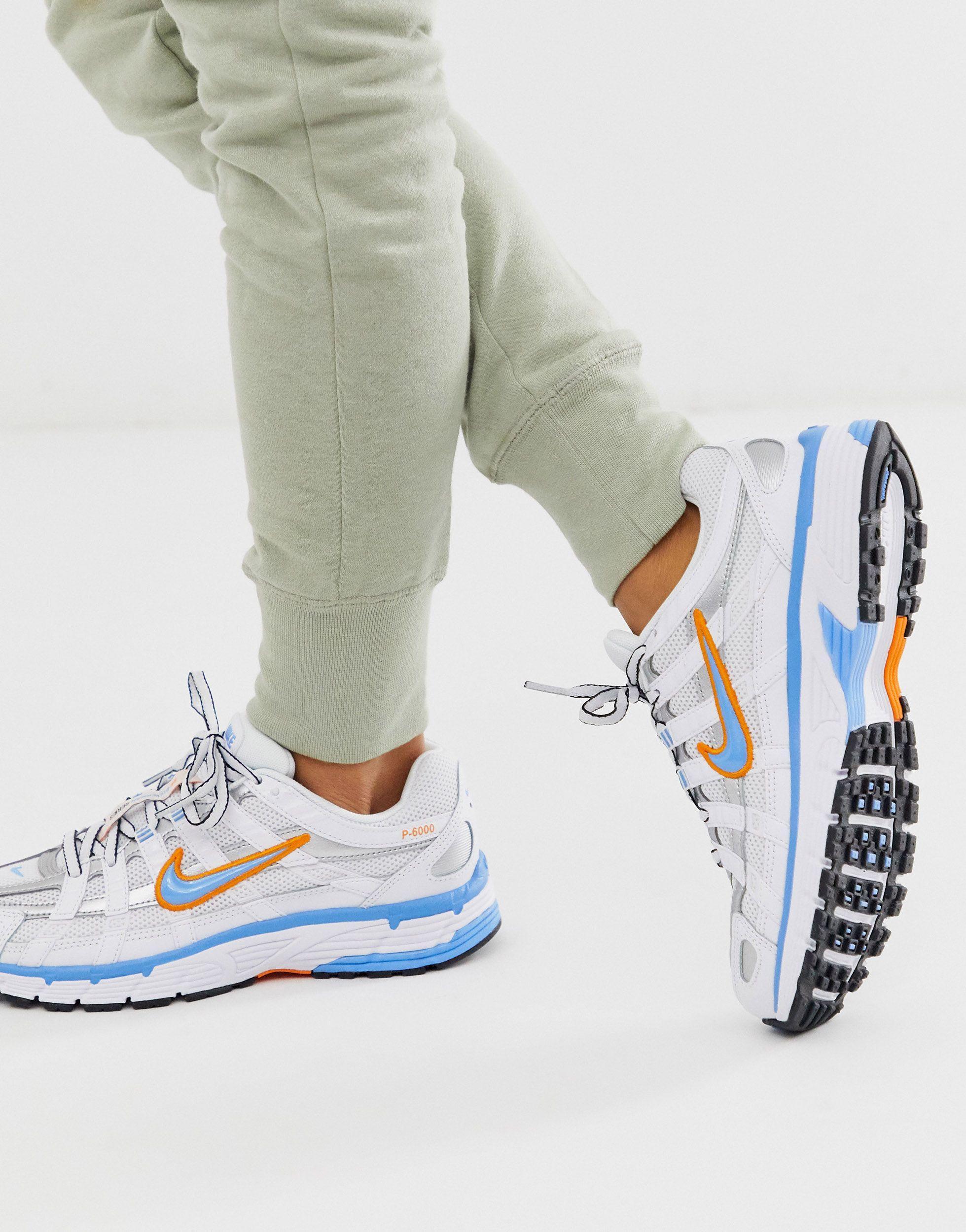 P-6000 - Baskets - et bleu métallisé Caoutchouc Nike en coloris ...