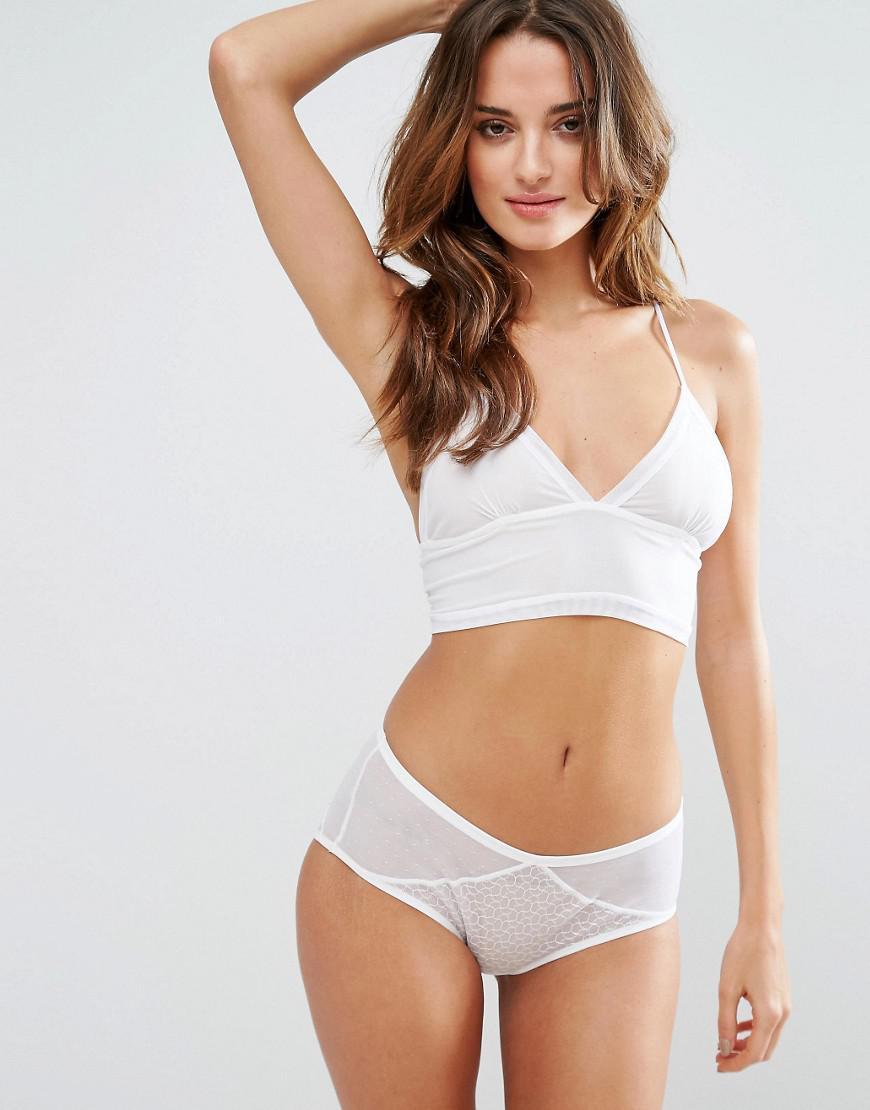 5c94a60e13e065 Lyst - Ultimo Ashley Bralette in White