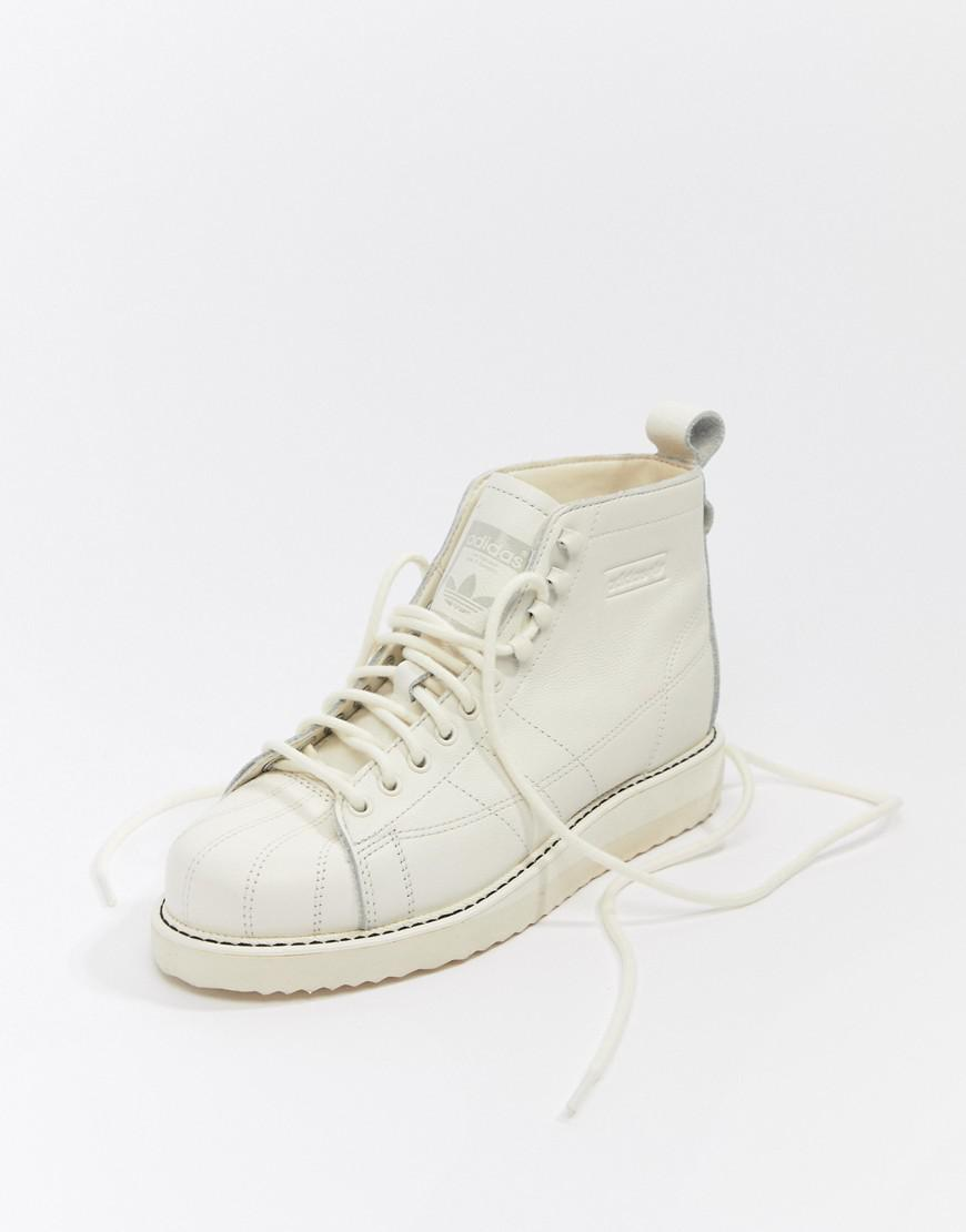 267145071215 Lyst - adidas Originals Superstar Boot Sneakers In Triple White in White
