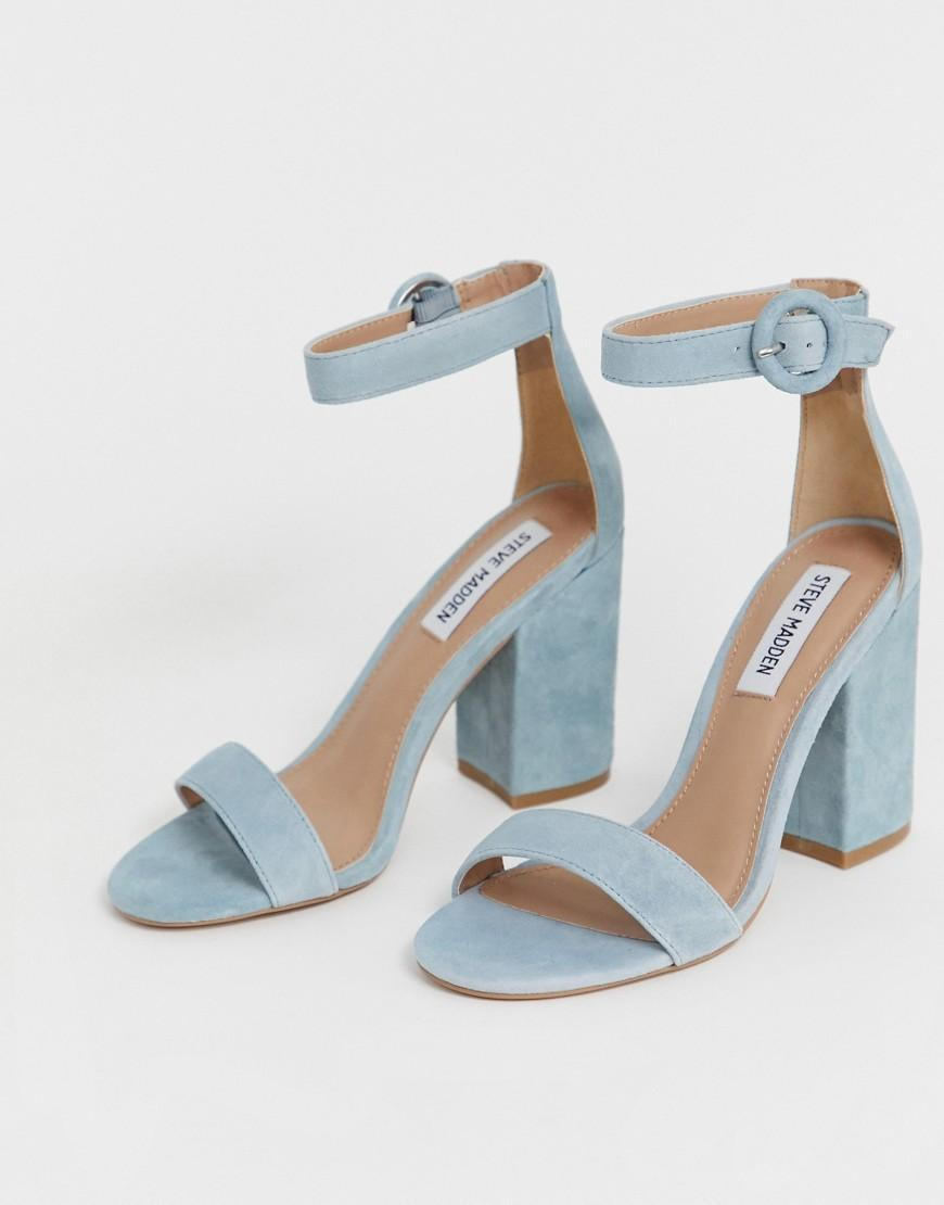 steve madden blue suede sandals