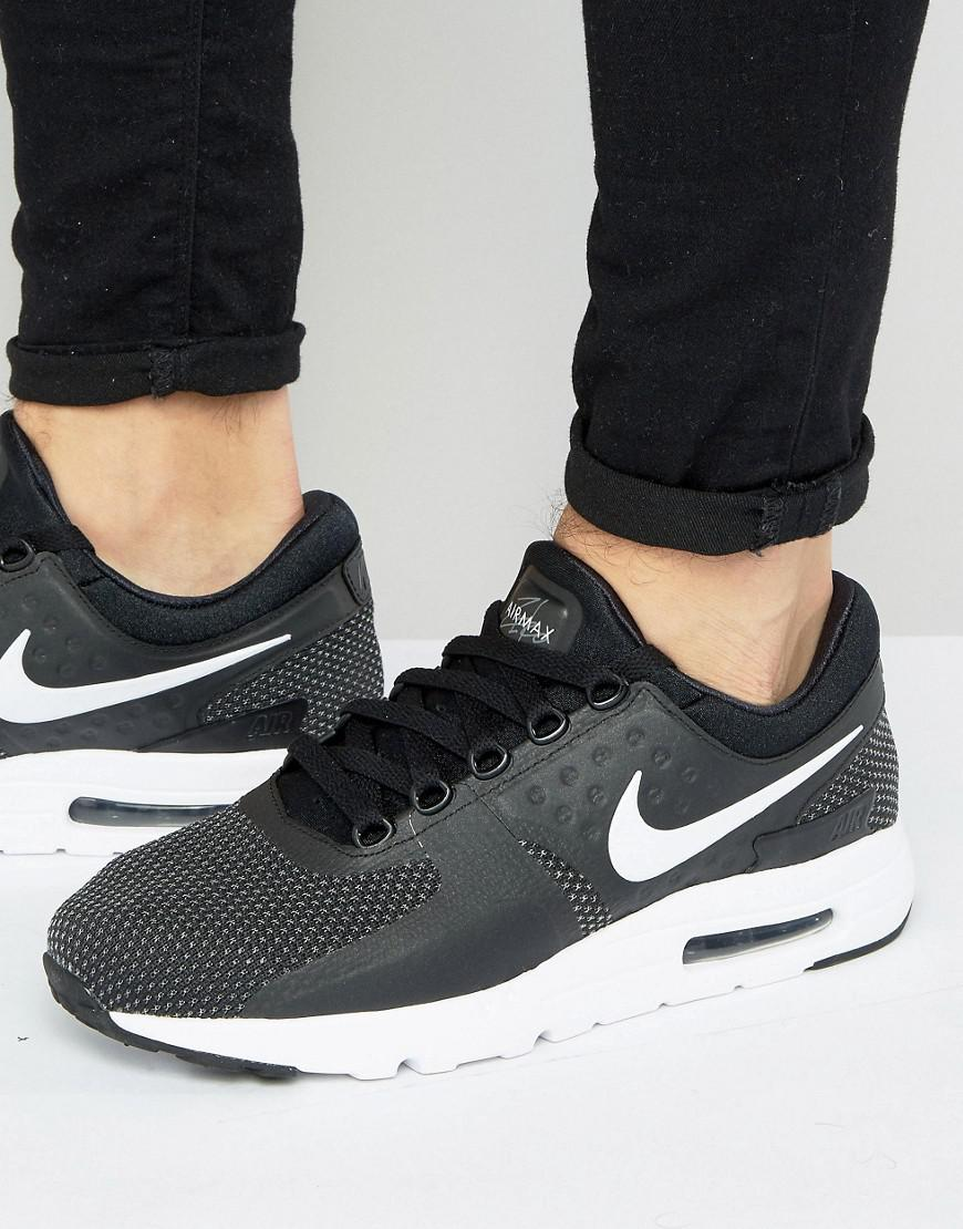 Nike Air Max Zero Trainers In Black 876070-004 in Black for Men - Lyst 1643ff6e3