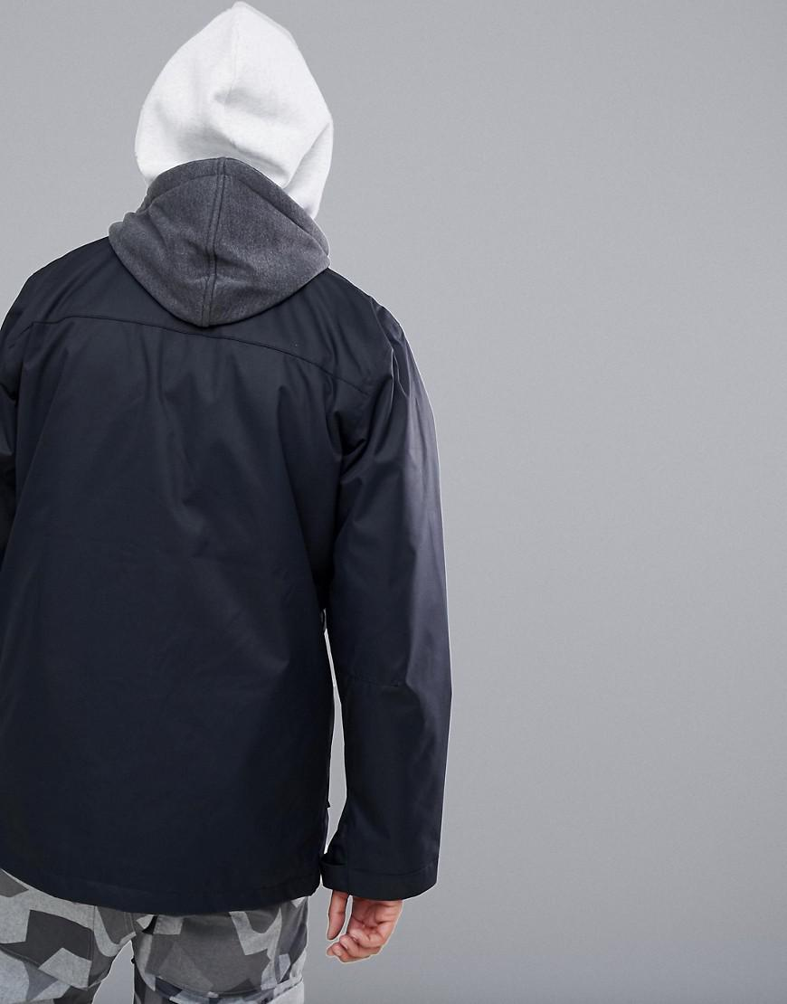 Dc Shoes Snow Cash Only Coach Jacket With Hood In Black For Men Lyst