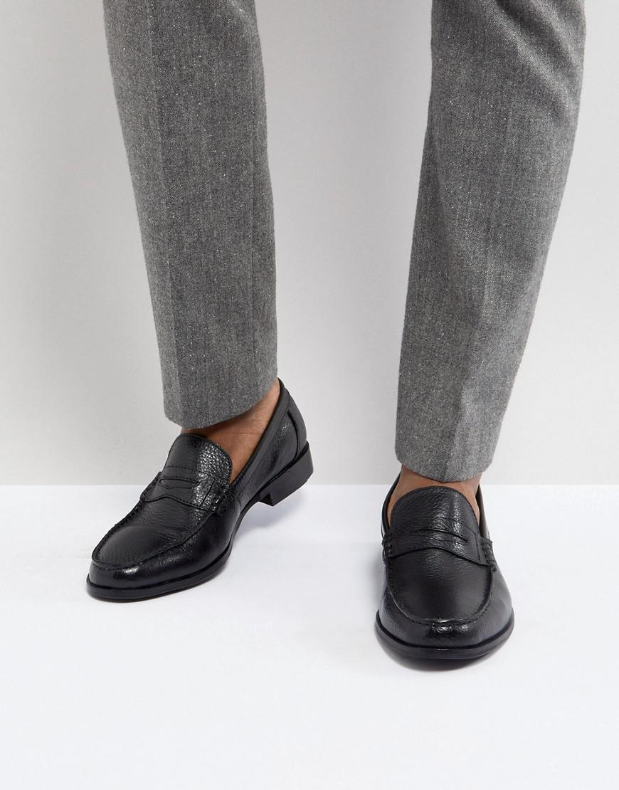 Ben Sherman Penny Loafers In Pebble Leather iFT1t7A