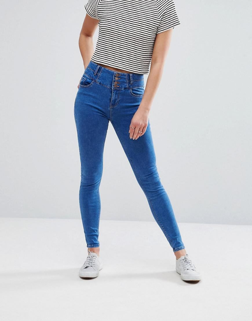 Lyst - New Look Soft Skinny Jeans in Blue