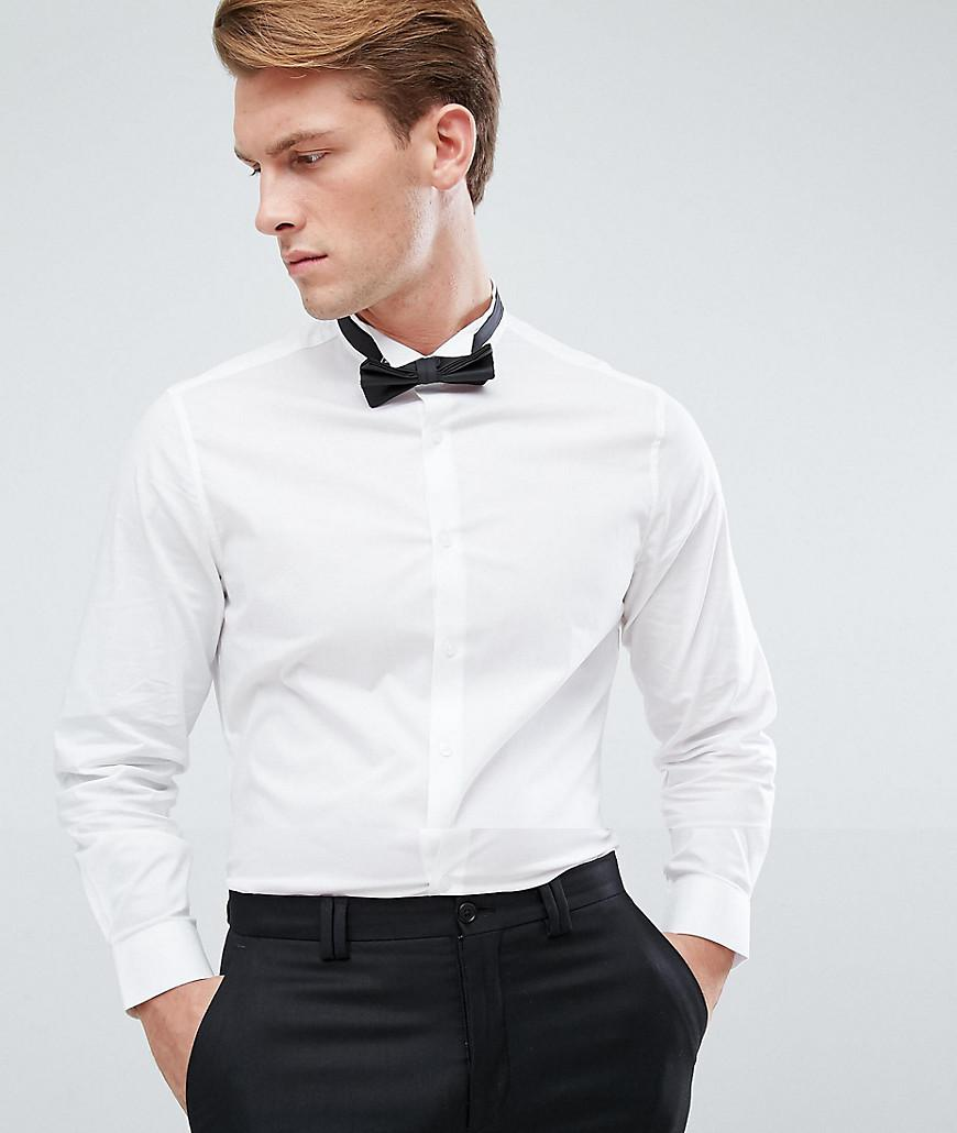 7aaa6da032c32 White Dress Shirt For Bow Tie - Image Of Tie