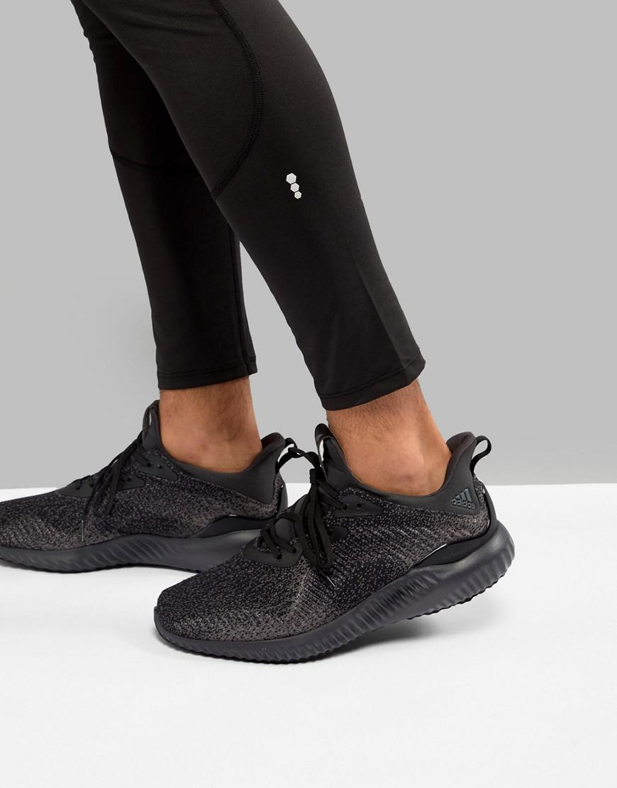 fb43a137cc007 Lyst - adidas Running Alphabounce Sneakers In Black Db1090 in Black ...