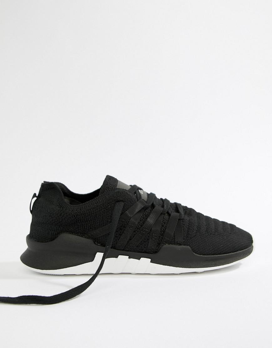 buy popular 3fcf5 589fe Lyst - adidas Originals Eqt Racing Adv Primeknit Sneakers In Black in Black