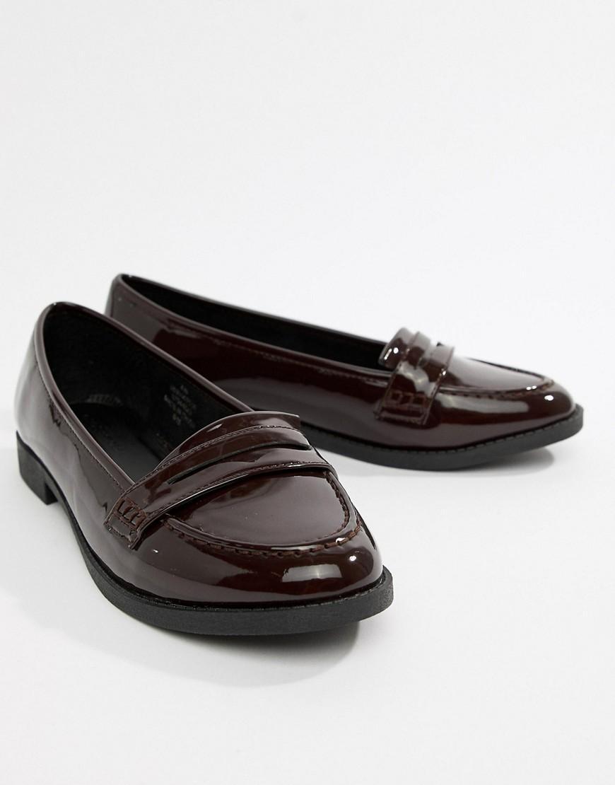 Minny - Chaussures plates à pointure large Jean ASOS en coloris Rouge