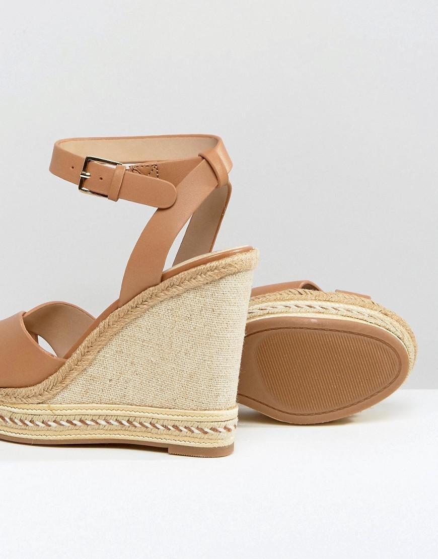 e40c346b4a6 ALDO Brown Clodia Tan Espadrille Wedge Sandals
