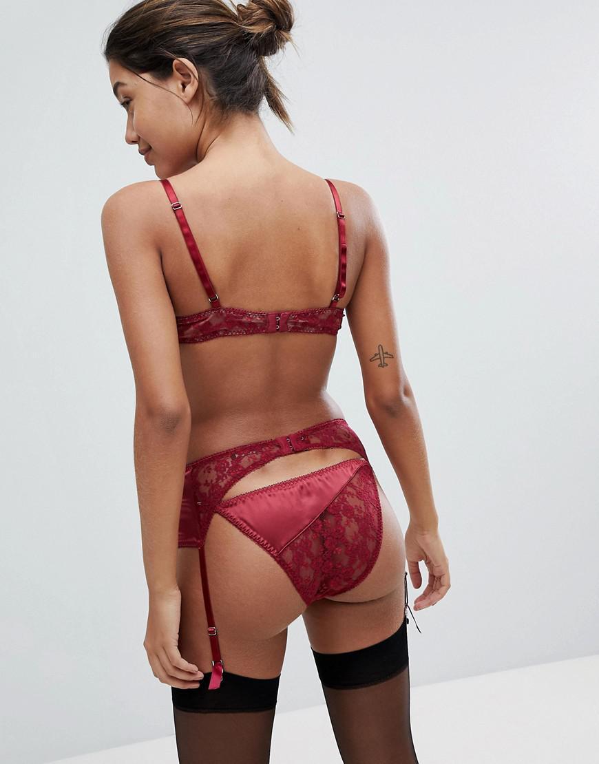 7a158780214 Coco De Mer Pamela Loves Lucky Suspender Belt in Red - Lyst