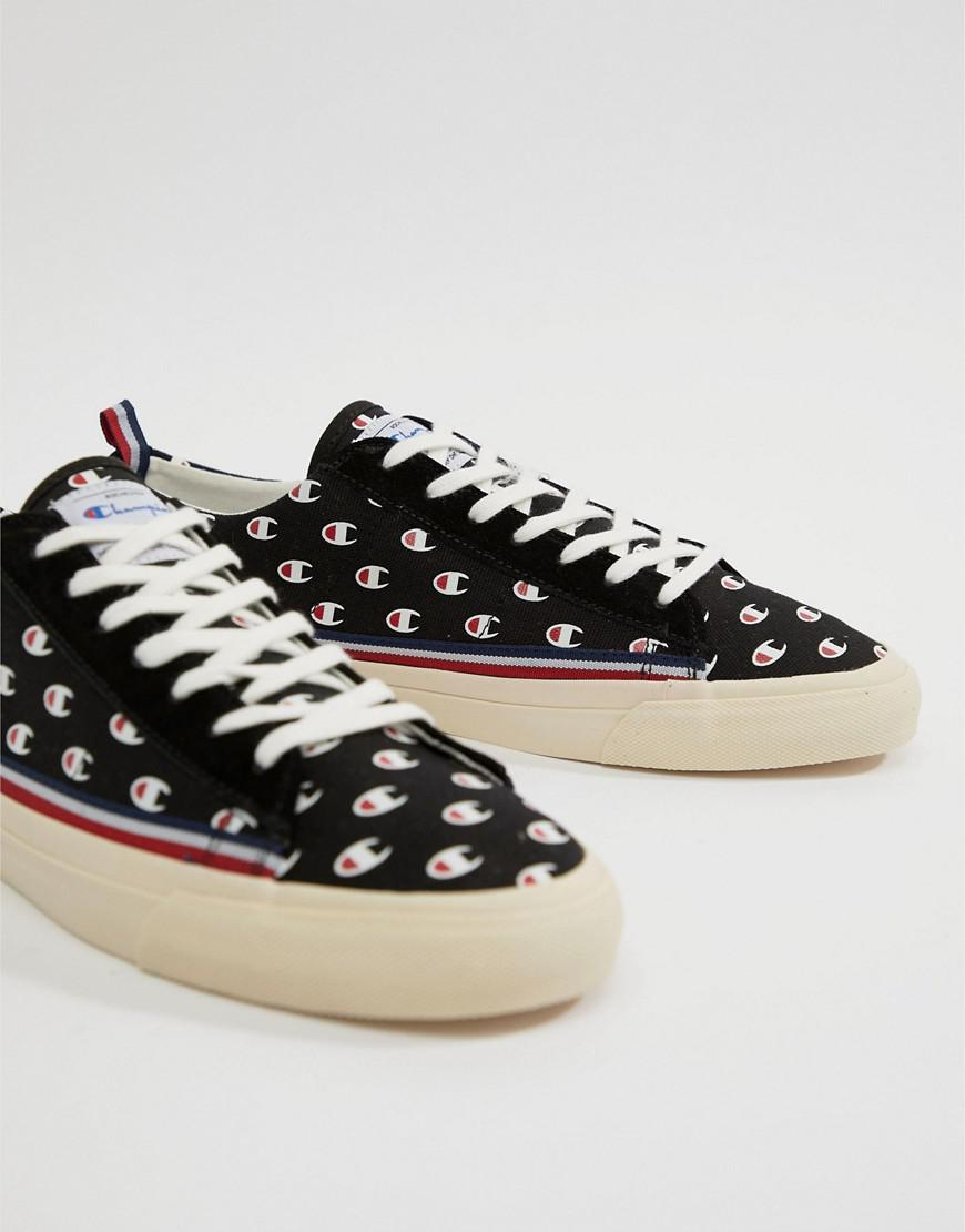 Champion Merury Low Trainers With Logo Print In Black