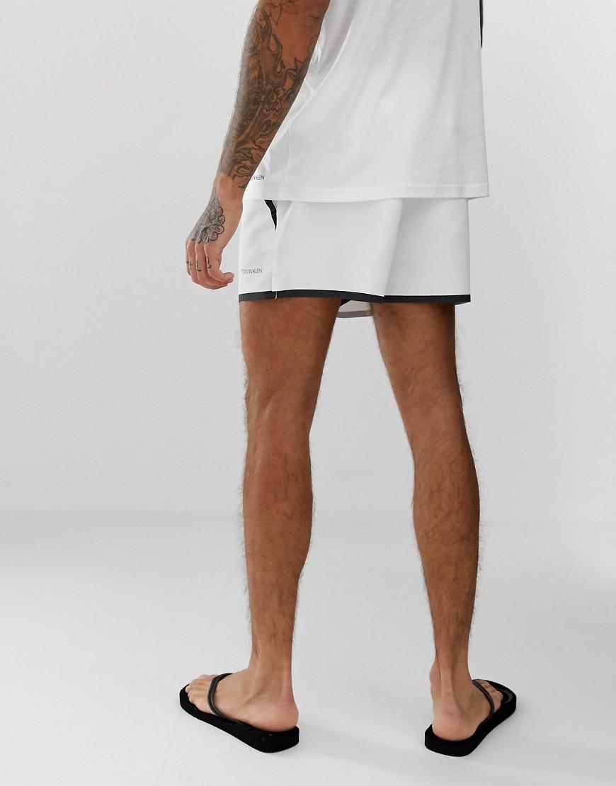 6112f17775 Calvin Klein Neo Plus Heat Sealed Swim Shorts In White in White for Men -  Lyst