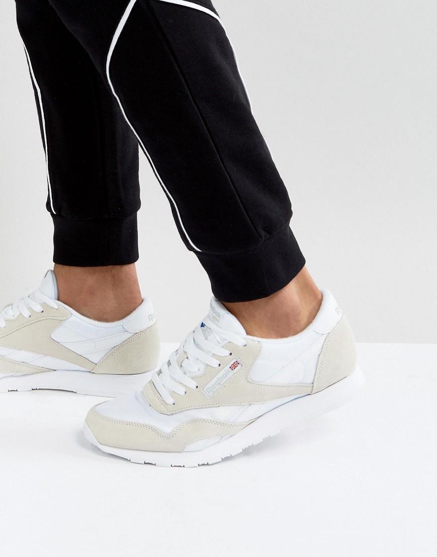 2c74766c55e Reebok Classic Nylon Sneakers In White 6390 in White for Men - Lyst