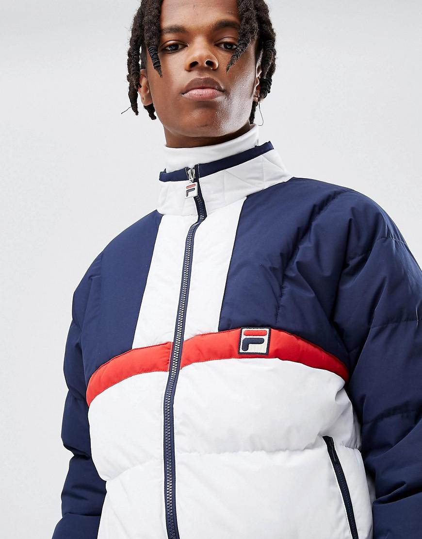 Fila Black Line Ski Padded Jacket in Navy (Blue) for Men
